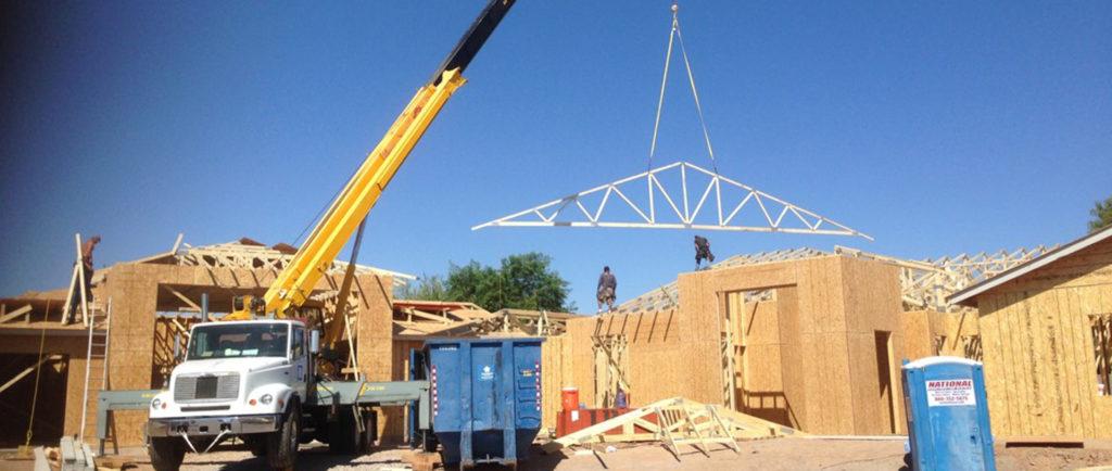 crane setting trusses